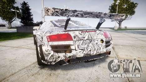 Audi R8 LMS Sharpie pour GTA 4 Vue arrière de la gauche