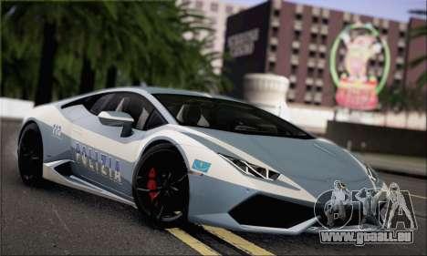 Lamborghini Huracan LP610-4 2015 Rim für GTA San Andreas Rückansicht