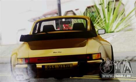 Porche 911 Turbo 1982 für GTA San Andreas zurück linke Ansicht