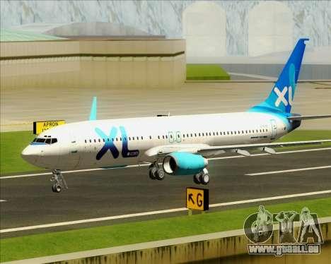 Boeing 737-800 XL Airways für GTA San Andreas obere Ansicht