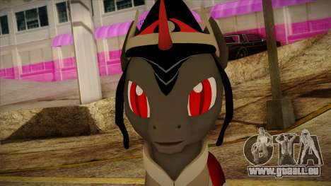 King Sombra from My Little Pony pour GTA San Andreas troisième écran
