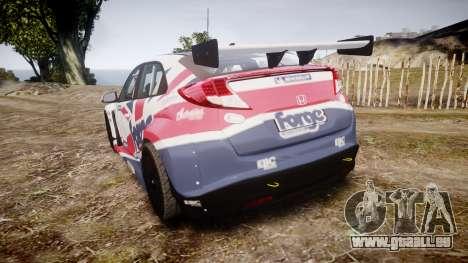 Honda Civic Type R pour GTA 4 Vue arrière de la gauche