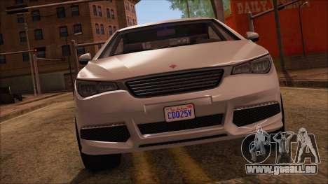 GTA 5 Ubermacht Sport für GTA San Andreas zurück linke Ansicht
