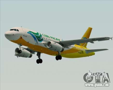 Airbus A319-100 Cebu Pacific Air für GTA San Andreas rechten Ansicht