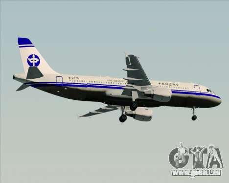Airbus A320-200 CNAC-Zhejiang Airlines für GTA San Andreas Seitenansicht