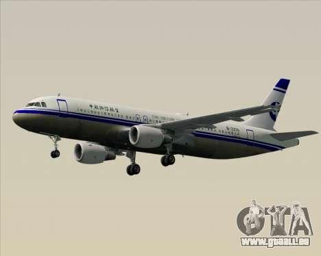 Airbus A320-200 CNAC-Zhejiang Airlines für GTA San Andreas Unteransicht
