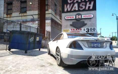 Benefactor Feltzer Grey Series v3 für GTA 4 hinten links Ansicht