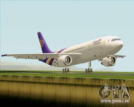 Airbus A300-600 Thai Airways International für GTA San Andreas Rückansicht