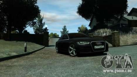 Audi A6 2012 pour GTA 4 est un droit