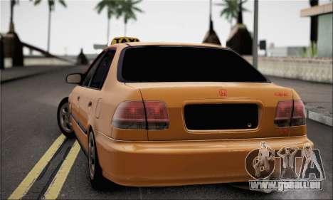 Honda Civic Fake Taxi für GTA San Andreas linke Ansicht