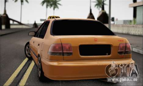 Honda Civic Fake Taxi pour GTA San Andreas laissé vue