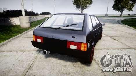 VAZ-2109 alliage pour GTA 4 Vue arrière de la gauche