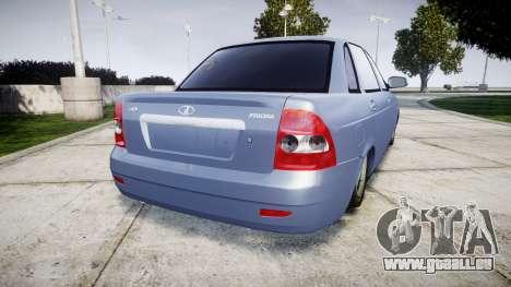 ВАЗ-2170 Installé Prieure de la Qualité v2.0 pour GTA 4 Vue arrière de la gauche