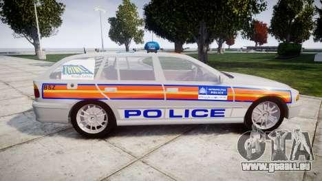 BMW 525i E39 Touring Police [ELS] JSTV pour GTA 4 est une gauche