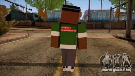 Bigsmoke Minecraft Skin pour GTA San Andreas deuxième écran