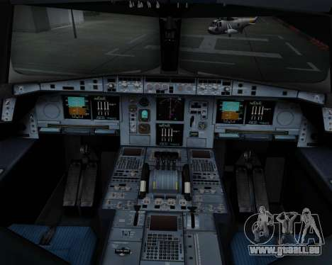 Airbus A380-800 Air China pour GTA San Andreas salon