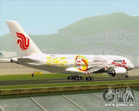 Airbus A380-800 Air China für GTA San Andreas rechten Ansicht