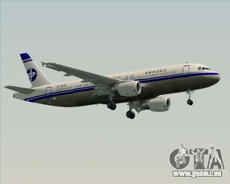 Airbus A320-200 CNAC-Zhejiang Airlines für GTA San Andreas Innenansicht