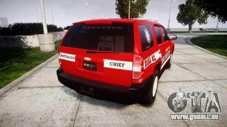 Chevrolet Tahoe Fire Chief [ELS] pour GTA 4 Vue arrière de la gauche