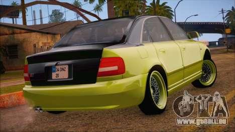 Audi S4 Fatlace pour GTA San Andreas laissé vue