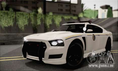 Bravado Buffalo S Police Edition (IVF) pour GTA San Andreas vue intérieure