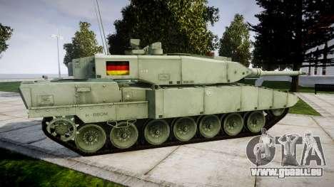 Leopard 2A7 DE Green für GTA 4 linke Ansicht