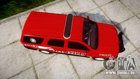 Chevrolet Tahoe Fire Chief [ELS] pour GTA 4 est un droit