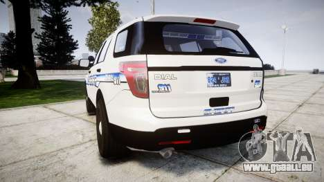 Ford Explorer 2013 [ELS] Liberty County Sheriff für GTA 4 hinten links Ansicht