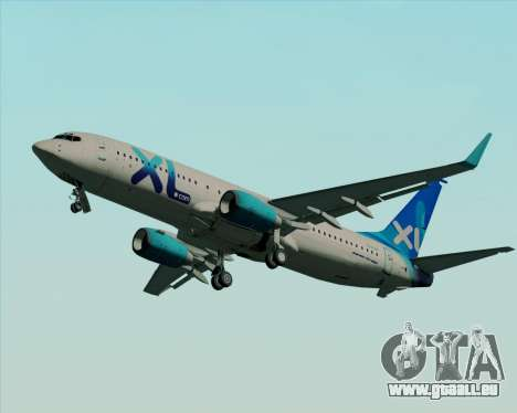 Boeing 737-800 XL Airways für GTA San Andreas Innenansicht
