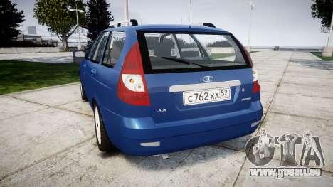 ВАЗ-2171 INSTALLÉ Avant rims2 pour GTA 4 Vue arrière de la gauche