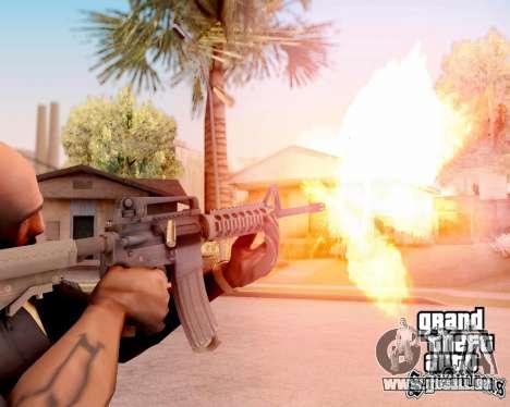 M4A1 BF4 pour GTA San Andreas cinquième écran