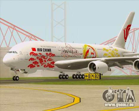 Airbus A380-800 Air China für GTA San Andreas linke Ansicht