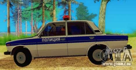 VAZ-2106 Police pour GTA San Andreas laissé vue