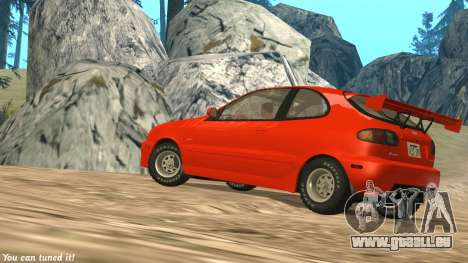 Daewoo Lanos Sport NOUS 2001 pour GTA San Andreas vue de côté