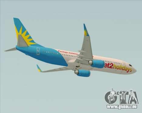 Boeing 737-800 Jet2Holidays pour GTA San Andreas vue intérieure