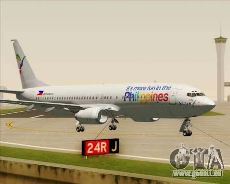 Boeing 737-800 South East Asian Airlines (SEAIR) für GTA San Andreas Innenansicht