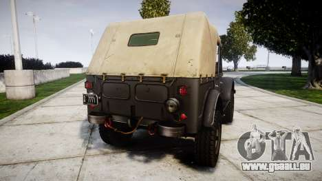 GAZ-69 für GTA 4 hinten links Ansicht