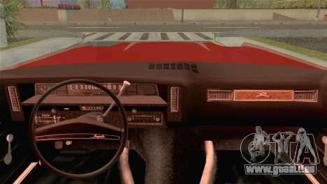 Chevrolet Impala Lowrider für GTA San Andreas zurück linke Ansicht