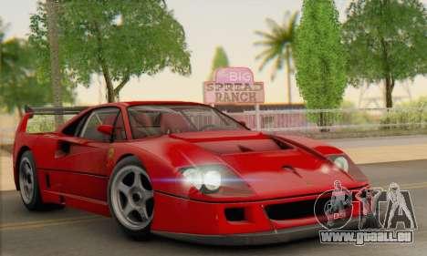 Ferrari F40 Competizione Black Revel für GTA San Andreas