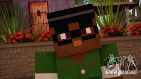 Bigsmoke Minecraft Skin pour GTA San Andreas troisième écran