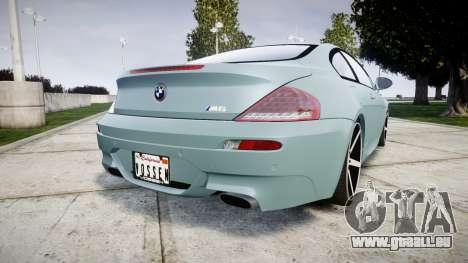 BMW M6 Vossen VVS CV3 pour GTA 4 Vue arrière de la gauche
