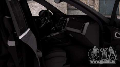 Porsche Cayenne Turbo 2015 für GTA San Andreas Rückansicht
