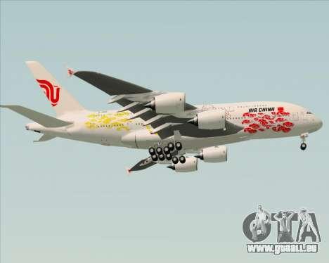 Airbus A380-800 Air China für GTA San Andreas Rückansicht