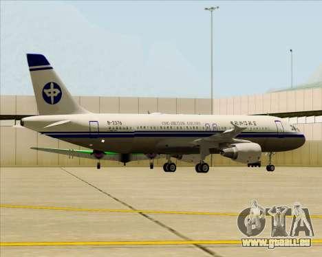 Airbus A320-200 CNAC-Zhejiang Airlines für GTA San Andreas Räder