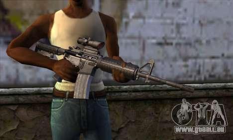 M4 Carbine ACOG pour GTA San Andreas troisième écran