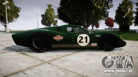 Ford GT40 Mark IV 1967 PJ Mixlub 21 pour GTA 4 est une gauche