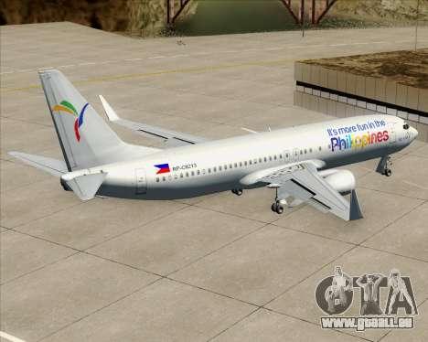 Boeing 737-800 South East Asian Airlines (SEAIR) für GTA San Andreas Innen
