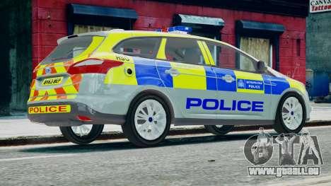 Met Police Ford Focus Estate IRV ELS 8 2013 pour GTA 4 est une gauche