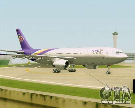 Airbus A300-600 Thai Airways International für GTA San Andreas obere Ansicht