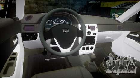 ВАЗ-Lada 2170 Priora Dubaï pour GTA 4 Vue arrière